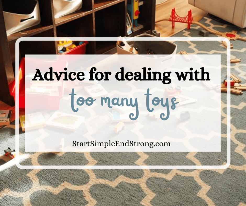 advice for dealing with too many toys
