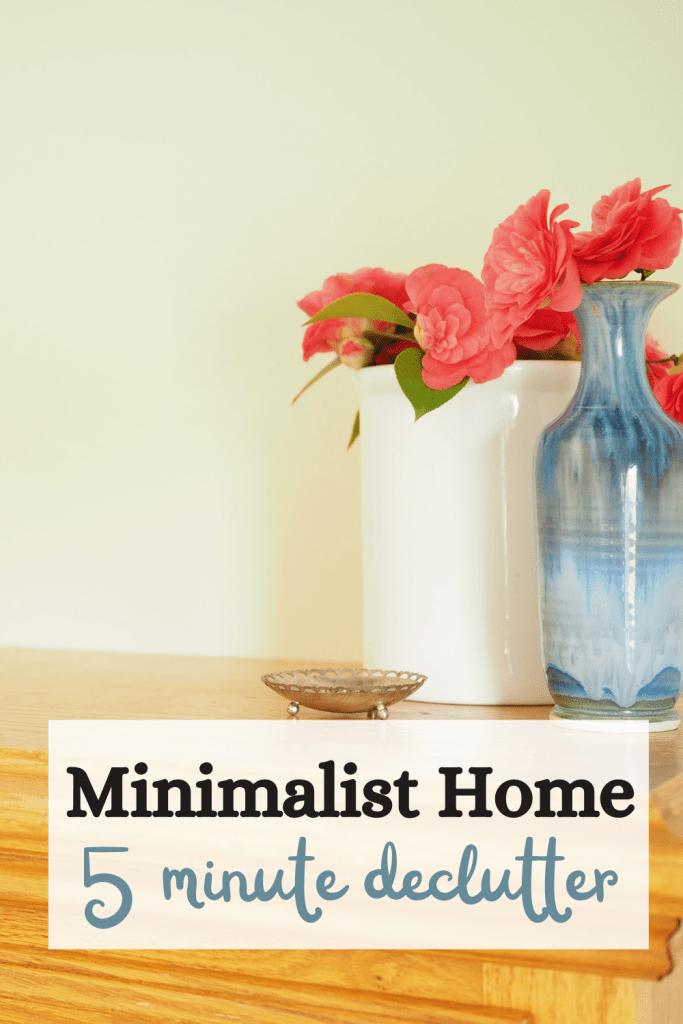Minimalist home declutter