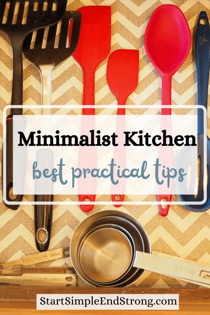 practical tips for minimalist kitchen