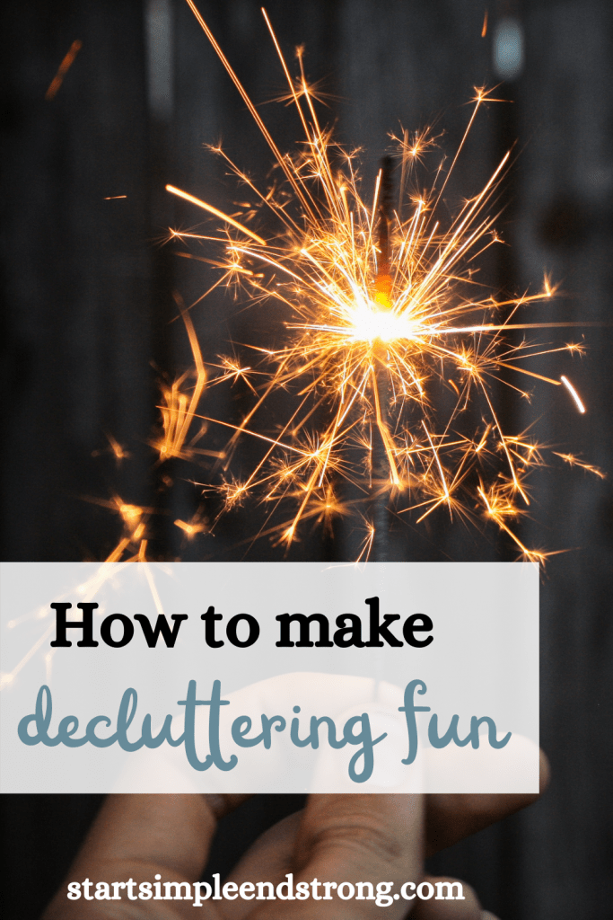 how to make decluttering fun