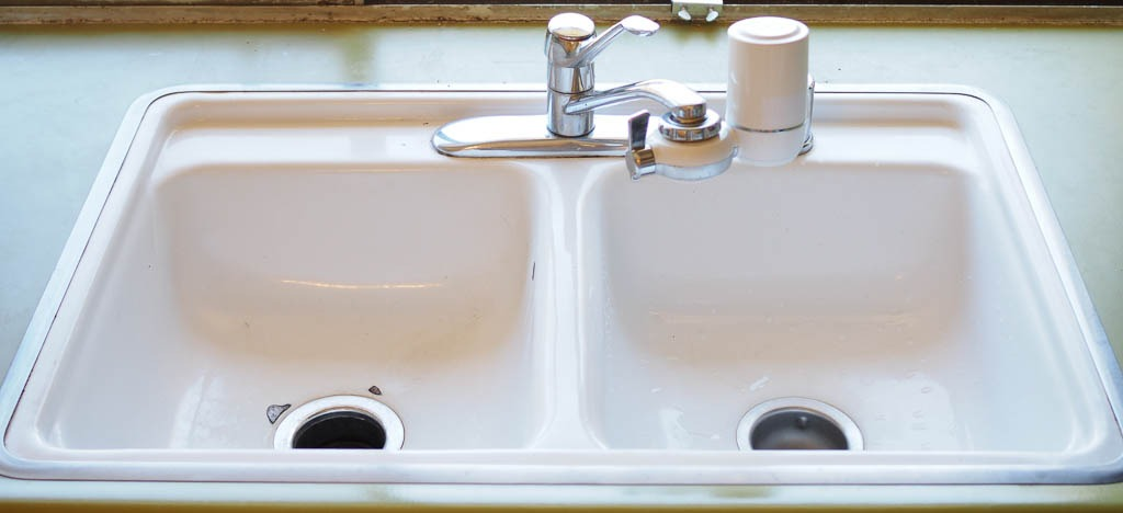 after picture of clean sink to help motivate to clean