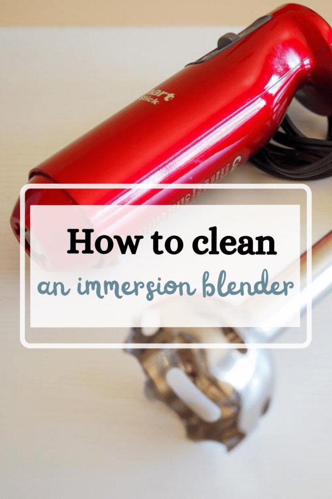 how to clean an immersion blender