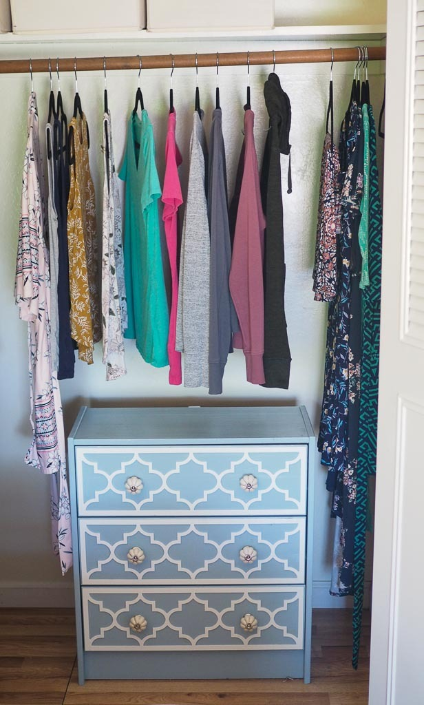 closet with neat and organized clothes